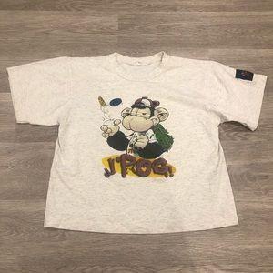 Vintage Humeur Design 90s Pog T-shirt Size S